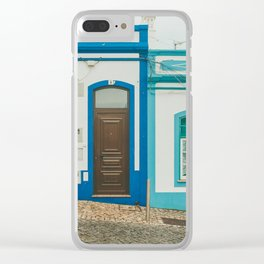 Turquoise Blue Houses in Lagos, Portugal Clear iPhone Case