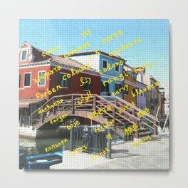 Burano 3 yellow Metal Print