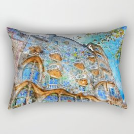 Barcelona, Casa Batllo Rectangular Pillow