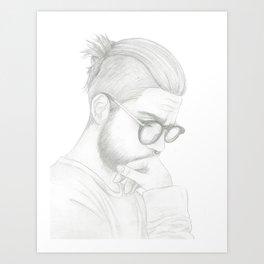 Top Knot Art Print