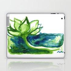 Green Lotus Laptop & iPad Skin