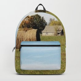 Rolled Hay Backpack