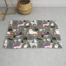 Chihuahua halloween cute spooky seasonal dog pattern chihuahuas Rug