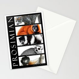 Lemurs of Madagascar Stationery Cards