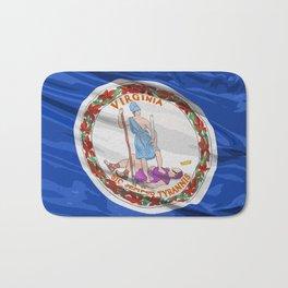 Virginia Fancy Flag Bath Mat