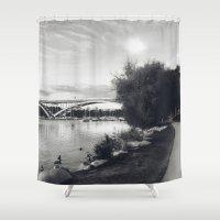 stockholm Shower Curtains featuring Stockholm 01 by Viviana Gonzalez