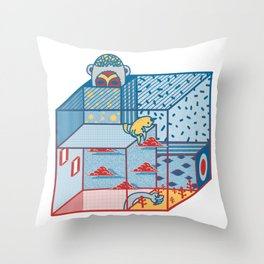 Stealing God's Plant Throw Pillow