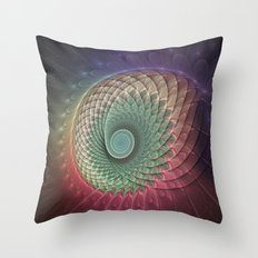 Abstract And Colorful Snail, Fractal Art Throw Pillow