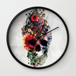 Two Face Skull Wall Clock