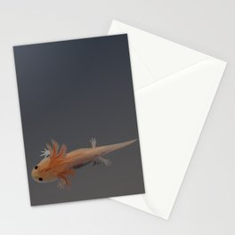 Axolotl Vector in Orange Stationery Cards