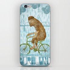 Dirty Wet Bigfoot Hipster iPhone & iPod Skin