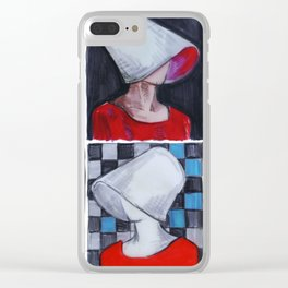 Don't let the bastards grind you down Clear iPhone Case