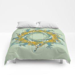 tiger and deer Comforters