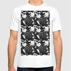 Black Rose MEDIUM Mens Fitted Tee White