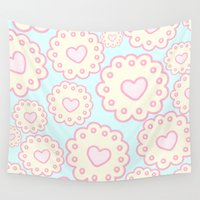 cookies Wall Tapestries featuring Cutie Cookies by Candy Castle
