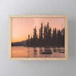 Forest Island at the Lake - Nature Photography Framed Mini Art Print