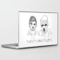 cactei Laptop & iPad Skins featuring Josh/Tyler by ☿ cactei ☿