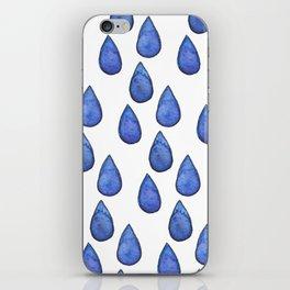 Watercolor raindrops iPhone Skin