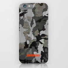 Modern Woodgrain Camouflage / Winter Birch Woodland Print Slim Case iPhone 6