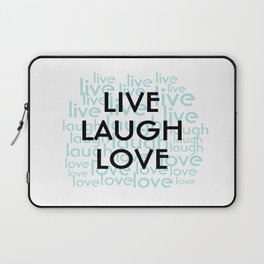 Live Laugh Love Repeated Typography Laptop Sleeve