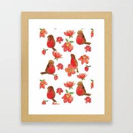 Hello Robin - White Version Framed Art Print