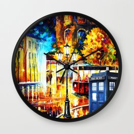 Tardis Art On The Street Wall Clock