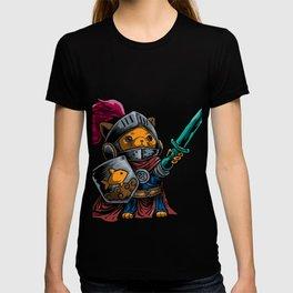 Knight Cat Warrior Shield Sword Cavalier Noble Gift T-shirt
