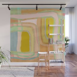Shapes and Layers no.28 - Modern Squares and Stripes Wall Mural