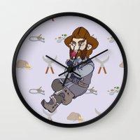 nori Wall Clocks featuring Lollipop Time by BlueSparkle