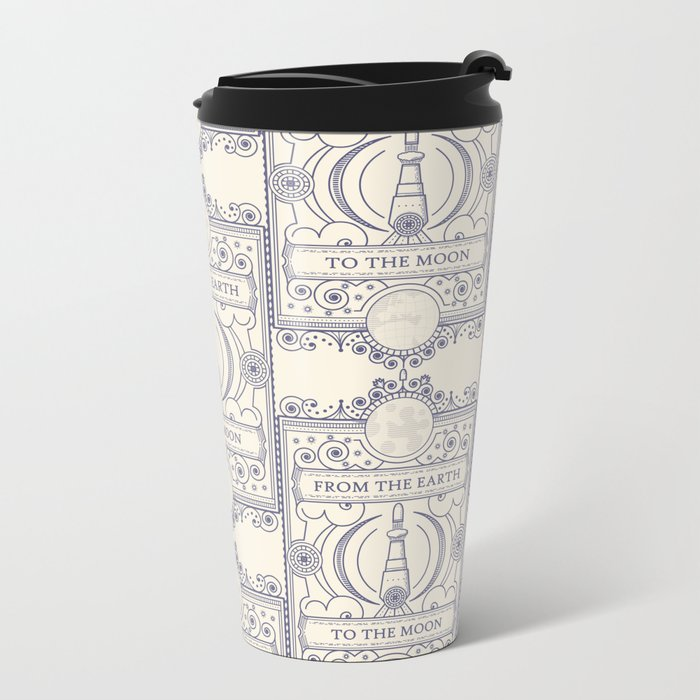 From The Earth To The Moon Metal Travel Mug