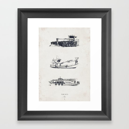 Tigre Delta: Ships Part Two Framed Art Print