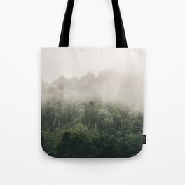 Forest Fog Photography | Woods | Misty | Mist | Forest Dew | Kaszuby Canada | Nature Photography Tote Bag