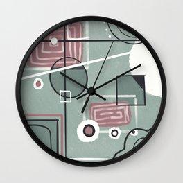 Circuits Contemporary  Wall Clock