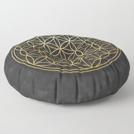 The Flower of Life Floor Pillow
