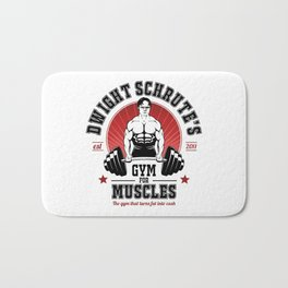 Schrute's Gym For Muscles Bath Mat