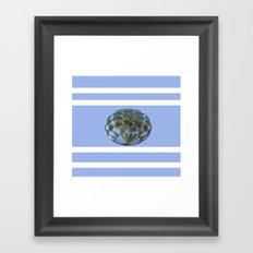 A Blue and Brown Orb Framed Art Print