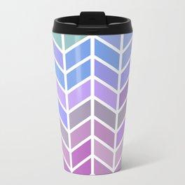 blue & purple chevron Metal Travel Mug
