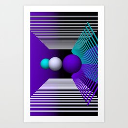 games with geometry -17- Art Print