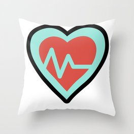 Heart Cardiac Line Super Cute Gift Idea Throw Pillow