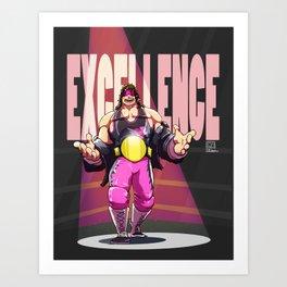 Bret Hart - Execllence Art Print
