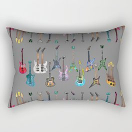 Electric Guitars Watercolor Rectangular Pillow