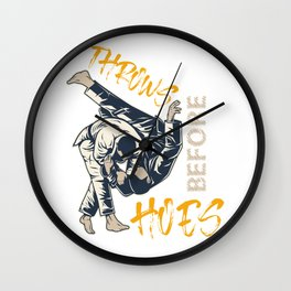 Funny Judo Design Wall Clock