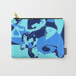Blue geometric abstraction1 Carry-All Pouch