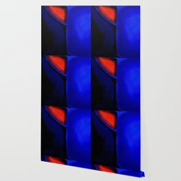 Abstraction in Lapis and Red Wallpaper