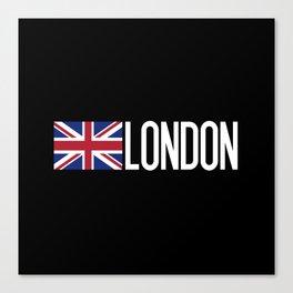 Britain: British Flag & London Canvas Print