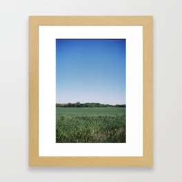 Daytime Moon Framed Art Print