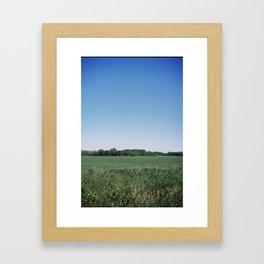 Daytime Moon Framed Art Print