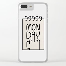 Monday Clear iPhone Case