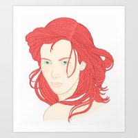 ariel Art Prints featuring Ariel by StudioBlueRoom