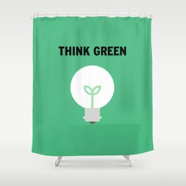 Green Shower Curtain